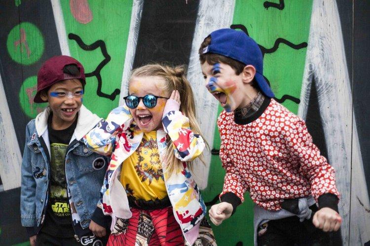 Atmosfere street art per Guess Kids a Pitti Bimo Pitti